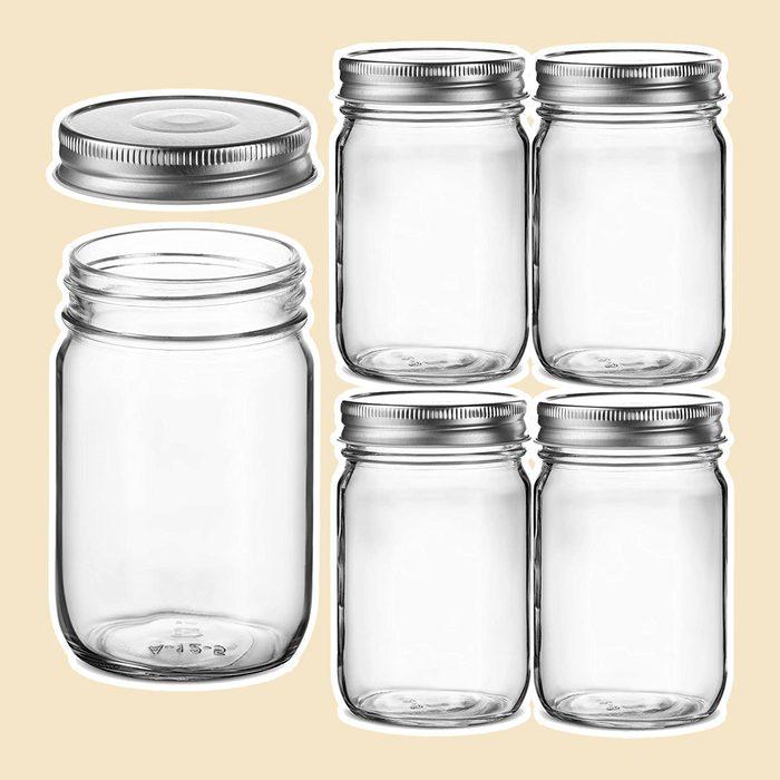 Glass Regular Mouth Mason Jars