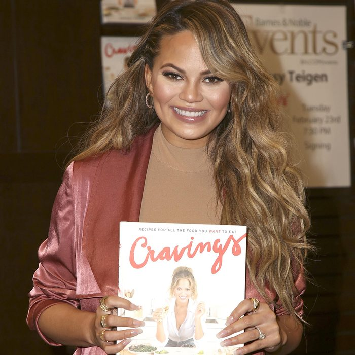 LOS ANGELES - FEB 23: Chrissy Teigen at the Book Signing of Cravings - Recipes For All The Food You Want To Eat at the Barnes and Noble at The Gorve on February 23, 2016 in Los Angeles, CA; Shutterstock ID 381558790