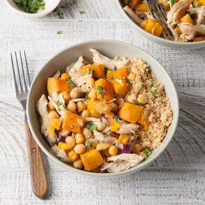 Chicken with Curry Roasted Squash