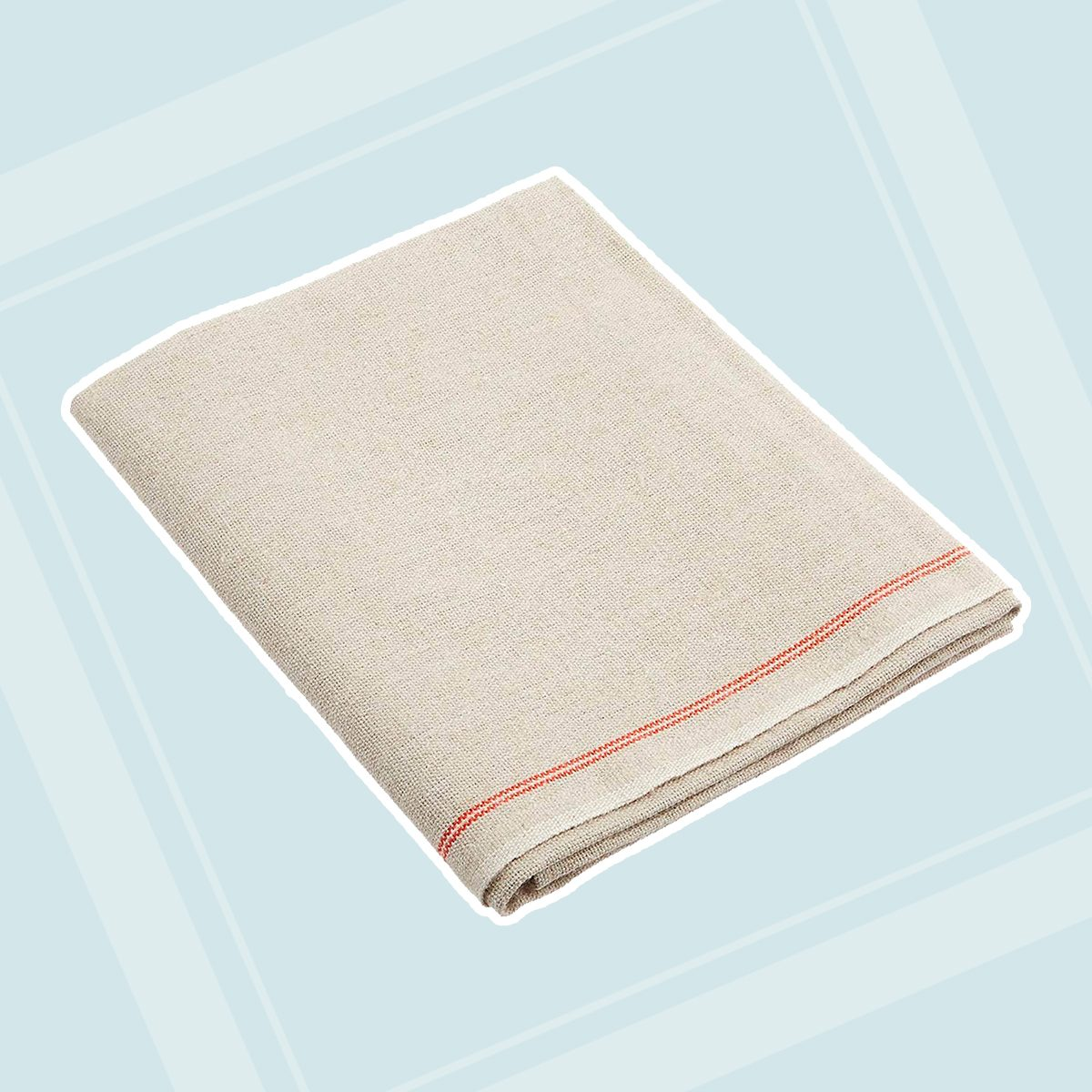 "Premium Professional Bakers Couche - 35""x26"", 100% Flax Linen Heavy Duty Proofing Cloth from Tissage Deren of France, with One Bonus Mure & Peyrot Fixed Blade Lame, by BrotformDotCom"