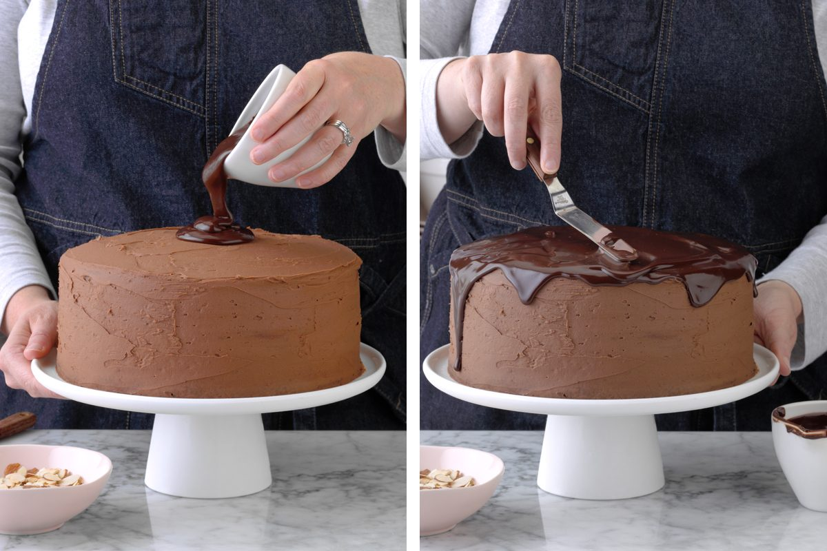 Frosting with ganache