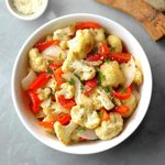 Roasted peppers and Cauliflower