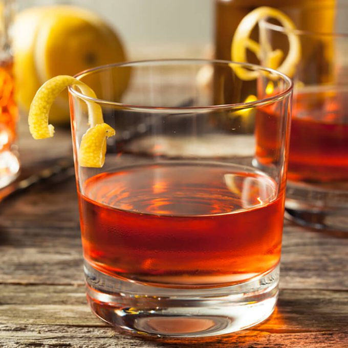 Homemade New Orleans Sazerac Cocktail with Bitters and Rye