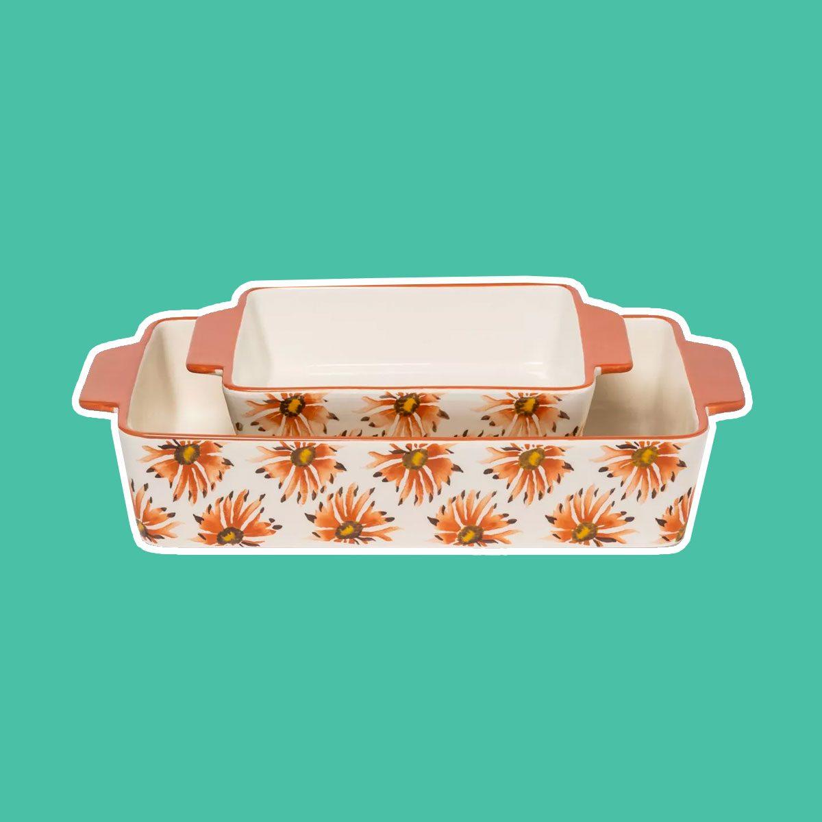 Stoneware Flower Bakeware