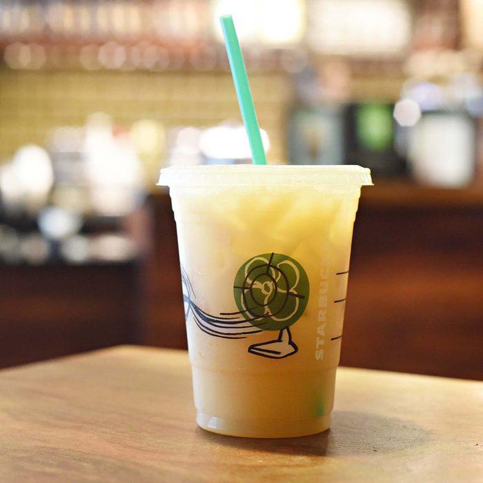 Teavana Iced Mango Black Tea Lemonade with Coconut Milk