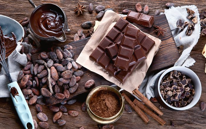cacao vs cocoa powder, cacao butter, chocolate bar and chocolate sauce