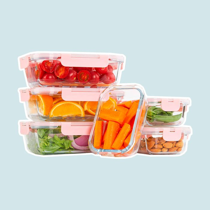 [10 Pack] Glass Meal Prep Containers, Food Storage Containers with Lids Airtight, Glass Lunch Boxes, Microwave, Oven, Freezer and Dishwasher Safe