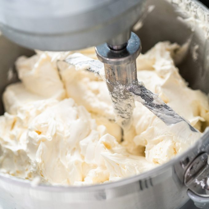 Making buttercream frosting for decorating a vanilla cake.; Shutterstock ID 1503169313; Job (TFH, TOH, RD, BNB, CWM, CM): TOH