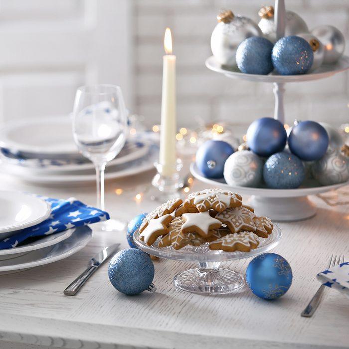 Beautiful Christmas table setting;