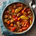 Italian Beef Vegetable Soup