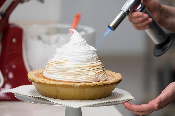 Sweet Potato Coconut Pie with Marshmallow Meringue; How To