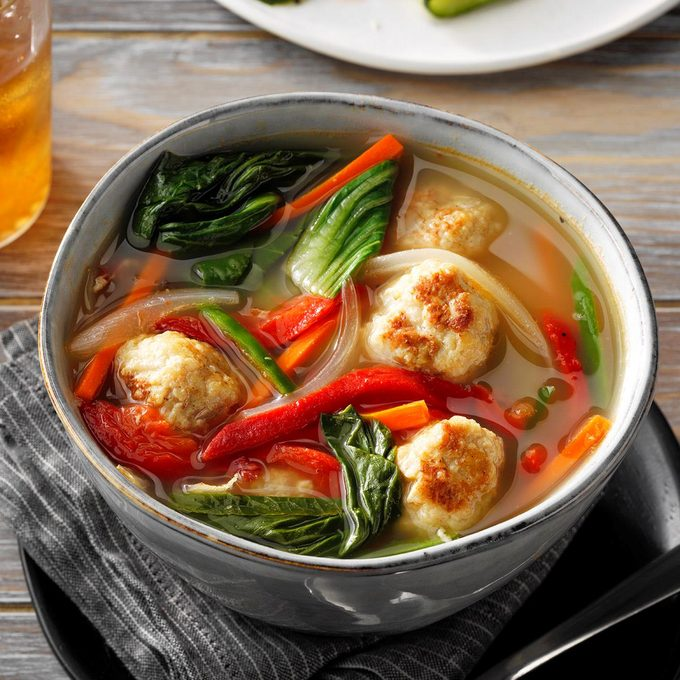 Vietnamese Chicken Meatball Soup With Bok Choy Exps Tohfm20 198499 E07 10 4b 6