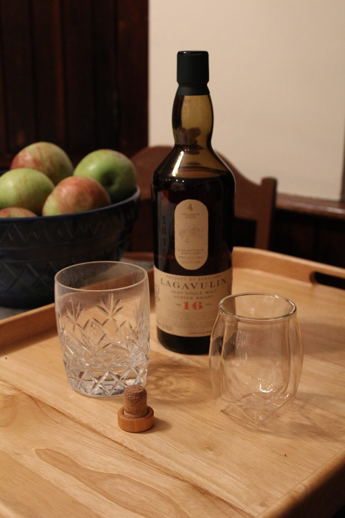 Norlan Whisky Glass and bottle of scotch