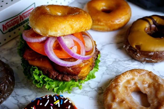 Krispy Kreme Donut Cheeseburgers
