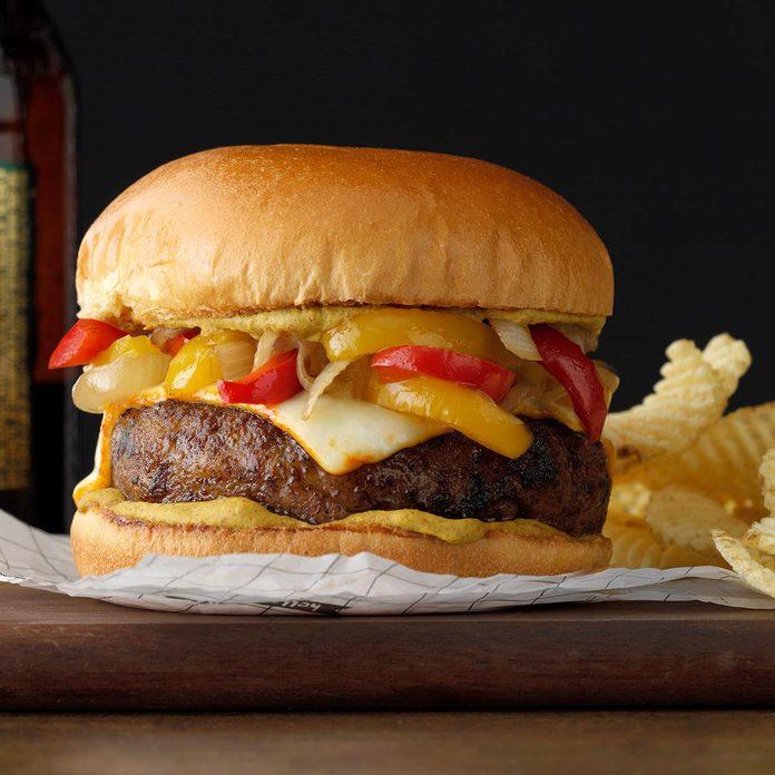 Bratwurst Burgers With Braised Onions Exps Tohfm20 165375 B09 27 1b 5