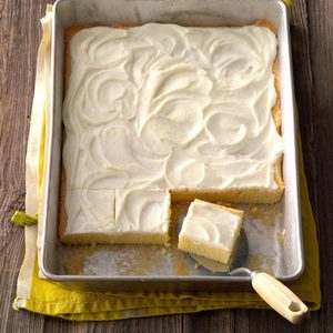 Lemon Bars with Cream Cheese Frosting