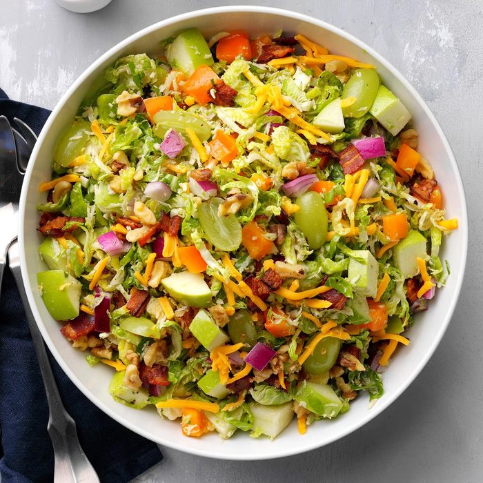 Honey-Mustard Brussels Sprouts Salad
