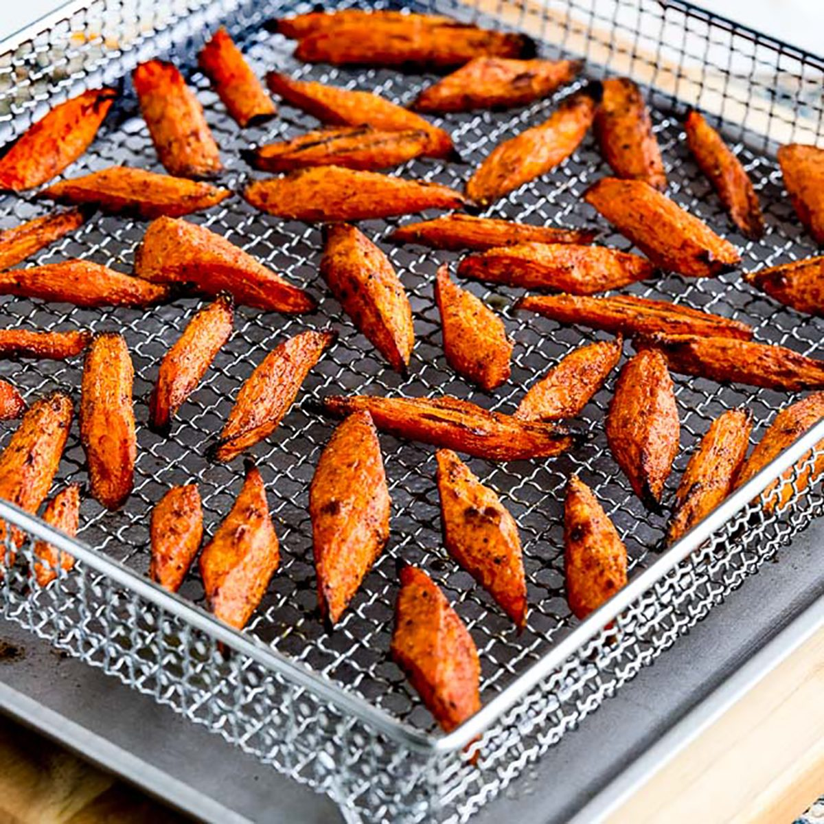 Air Fryer Roasted Carrots with Moroccan Spice Mix