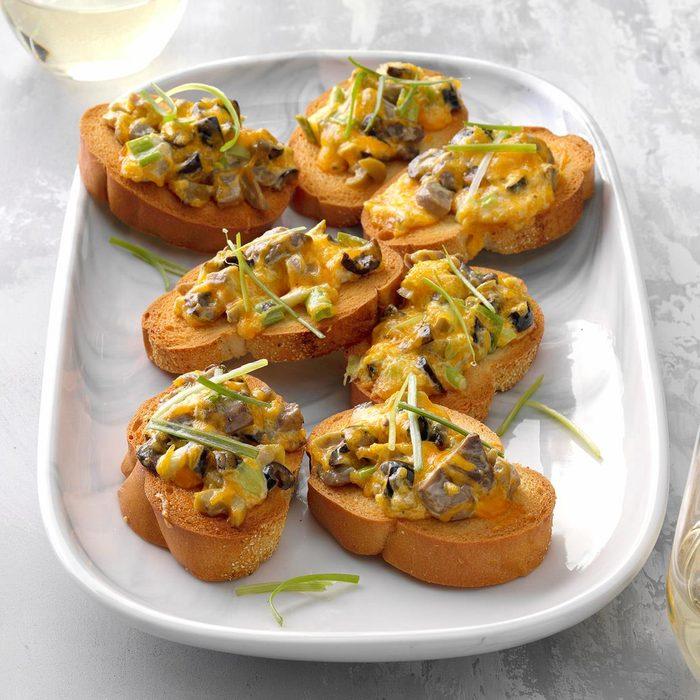 Mushroom and Olive Bruschetta