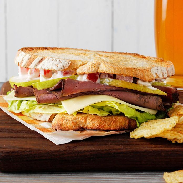 Pear and Roast Beef Sandwiches