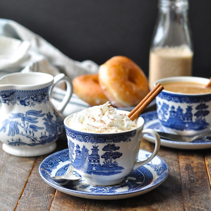 pumpkin spice creamer with whipped cream