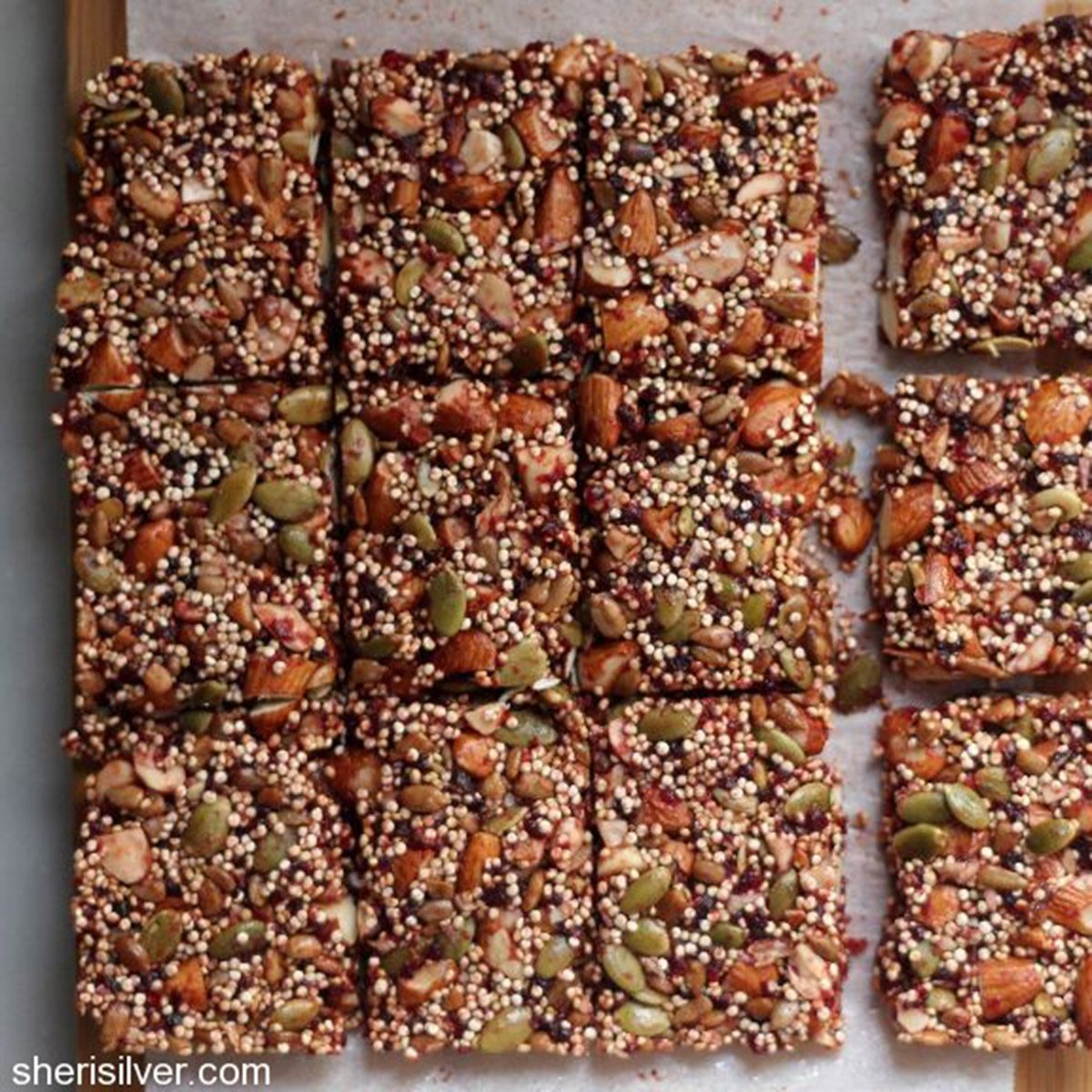 Quinoa Nut and Cherry Bars