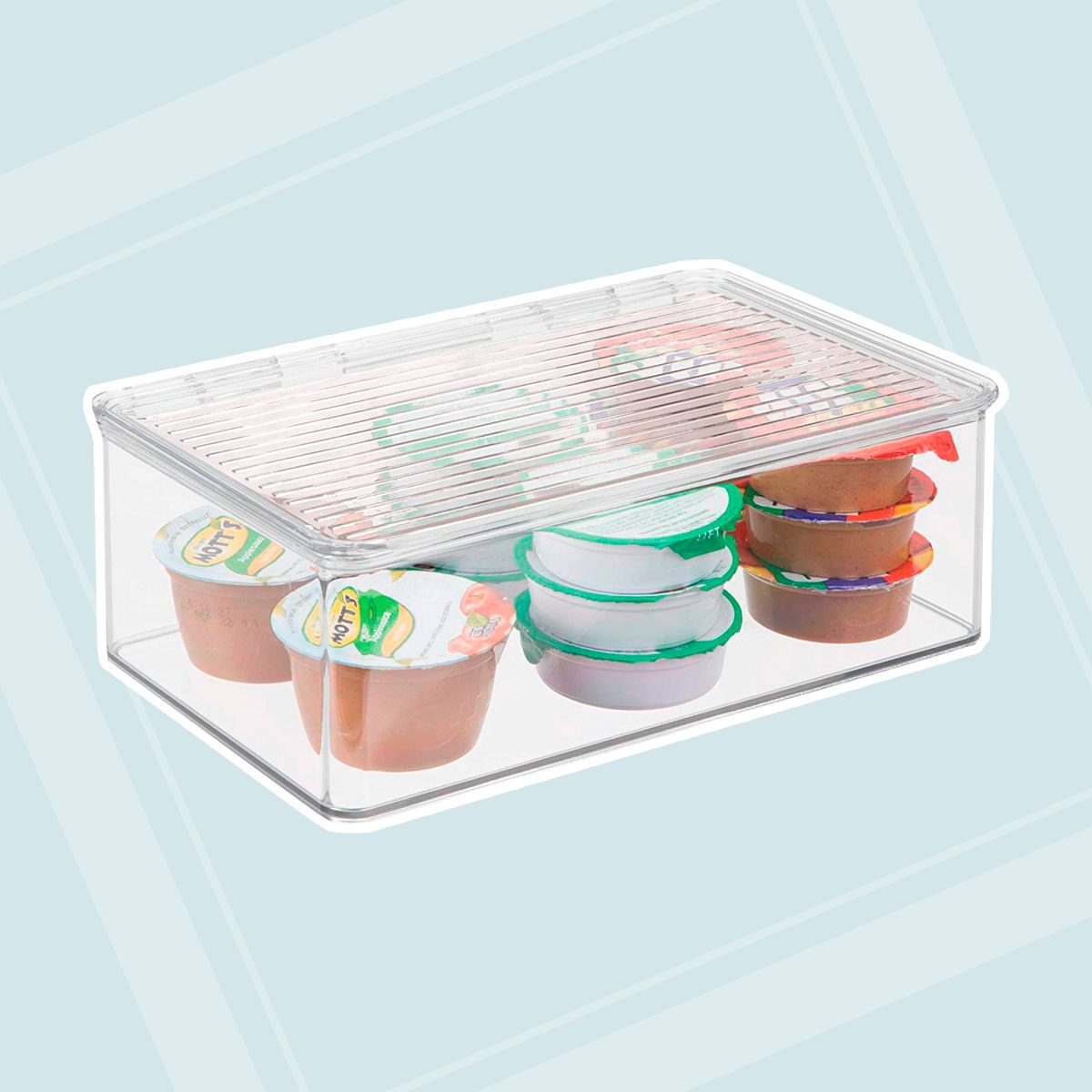 iDesign Kitchen, Pantry, Refrigerator, Freezer Storage Container with Hinged Lid