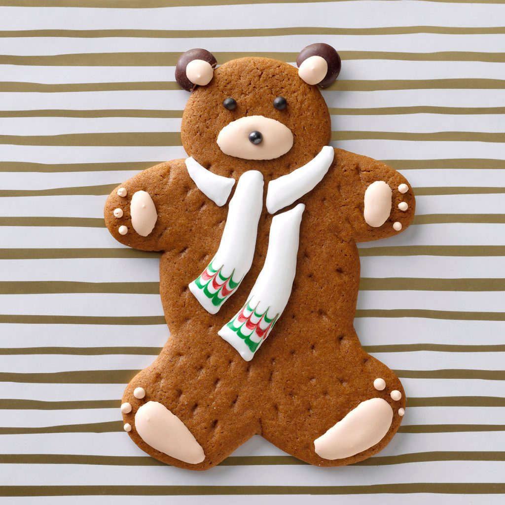 teddy bear christmas cookie