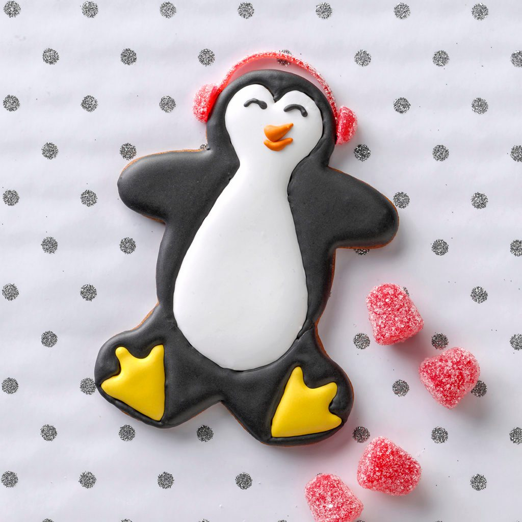 penguin cookie christmas ginger bread