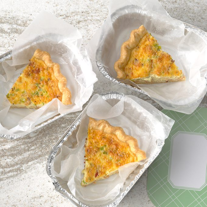 bacon swiss quiche, meal planning premium
