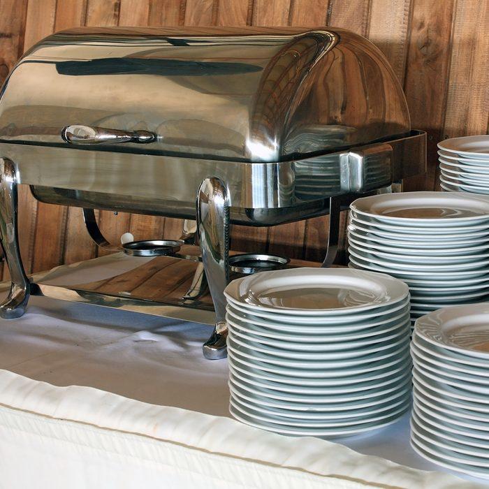 Plates before dinner
