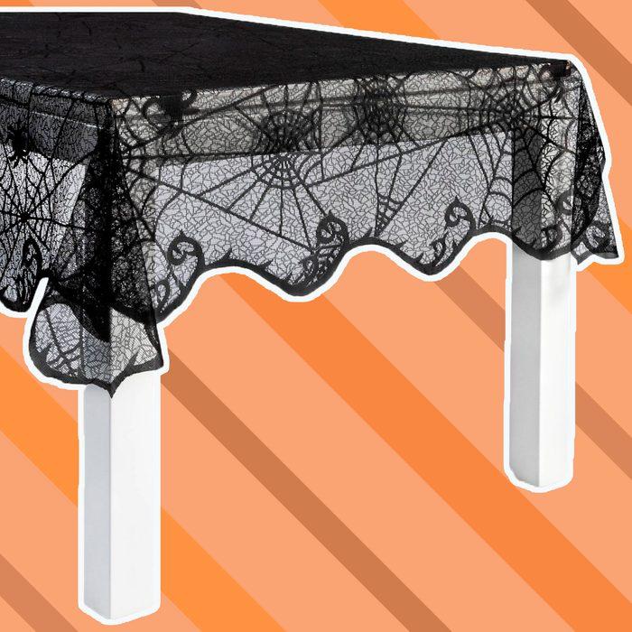 spiderweb table cloth