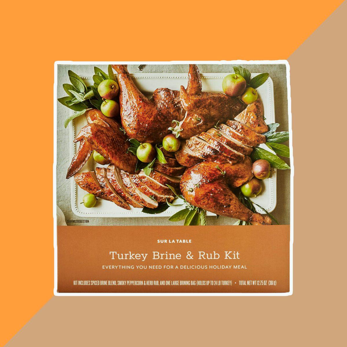 turkeybrinerubkit sur la table, thanksgiving dinner products