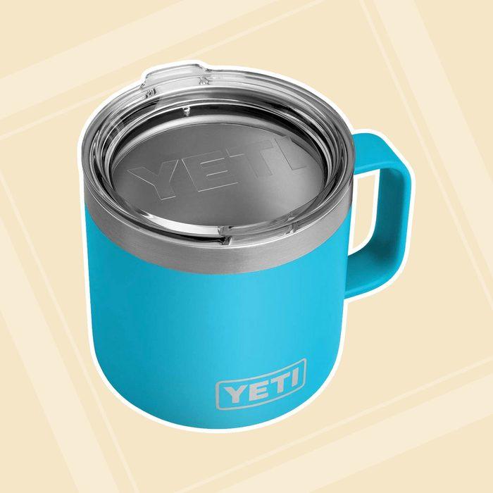 YETI Rambler 14 oz Mug, Stainless Steel, Vacuum Insulated with Standard Lid