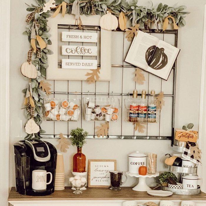 seasonal coffee bar