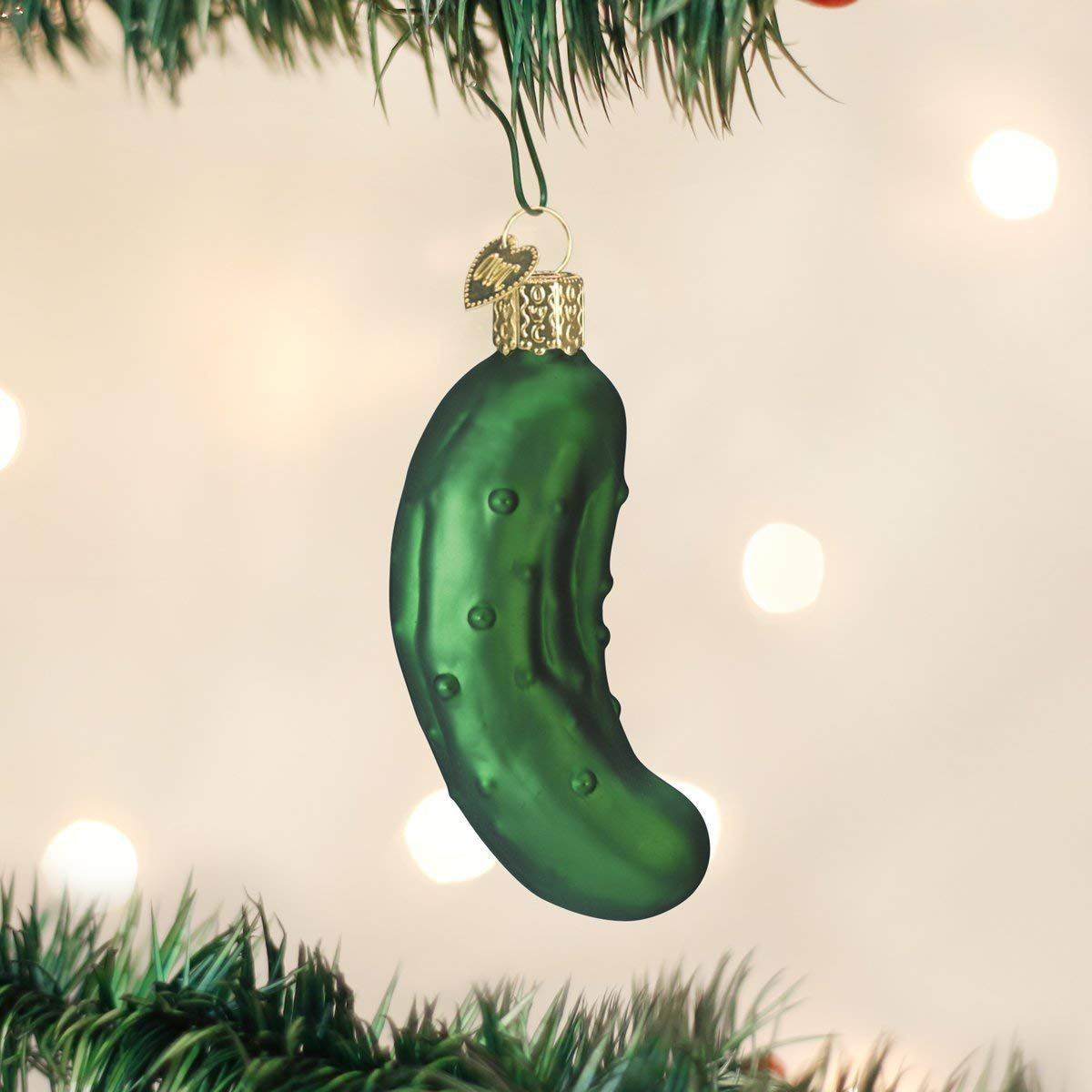 Old World Christmas Ornaments: Pickle Glass Blown Ornaments for Christmas Tree