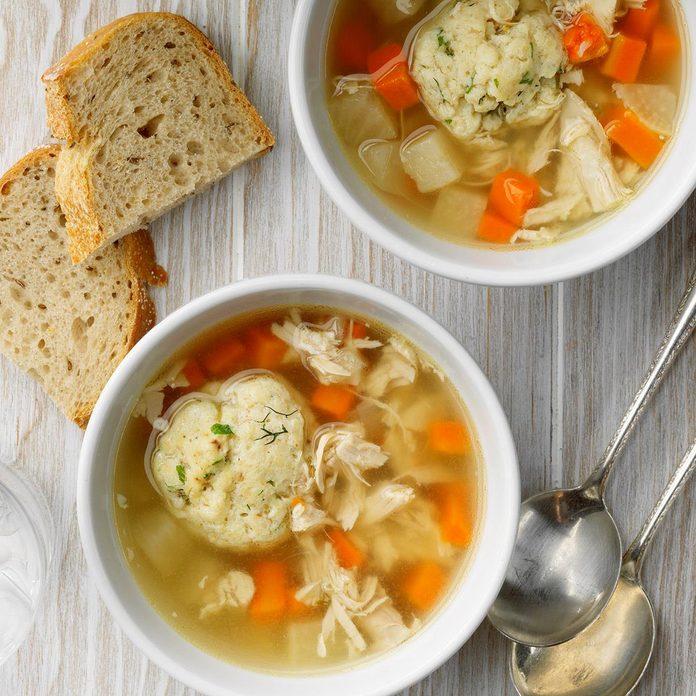 Chicken Soup With Herbed Matzah Balls Exps Toham20 245370 E10 30 2b 2