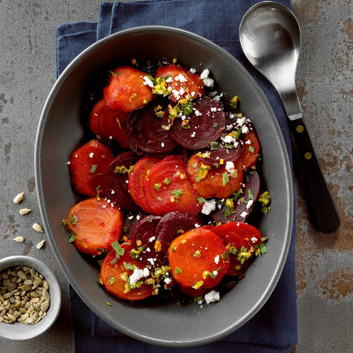 Roasted Beets with Orange Gremolata and Goat Cheese