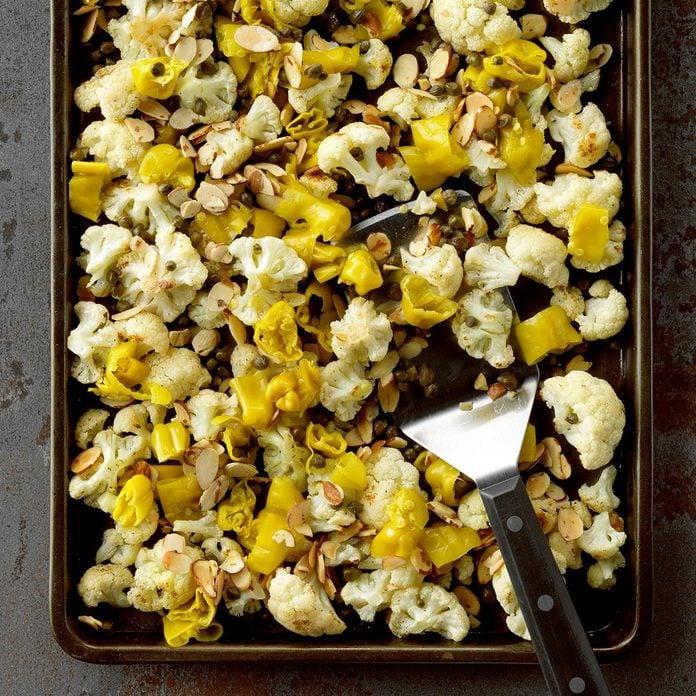 Roast Cauliflower with Pepperoncini
