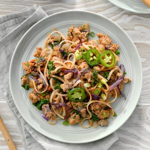 Spicy Turkey Stir Fry with Noodles