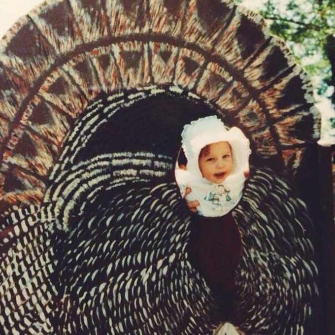 baby in cut out turkey