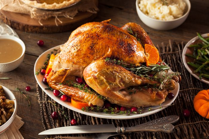 Homemade Roasted Thanksgiving Day Turkey with all the Sides; Shutterstock ID 334603307; Job (TFH, TOH, RD, BNB, CWM, CM): TOH