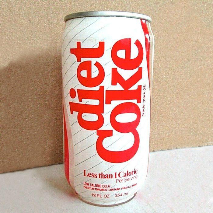 1980's PLASTIC CAN Diet Coke Coca Cola Pull Tab Soda Can Columbus, GA