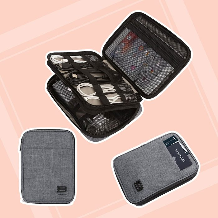 gifts for men Bagsmart Double Layer Organizer Electronics Accessories