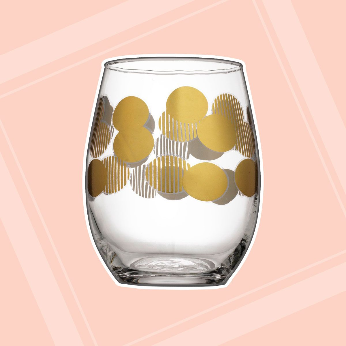 Holiday Stemless Wine Glasses