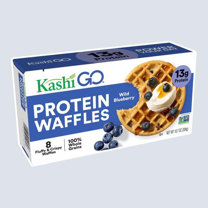 healthy breakfast on-the-go Kashi Go Frozen Waffles Wild Blueberry