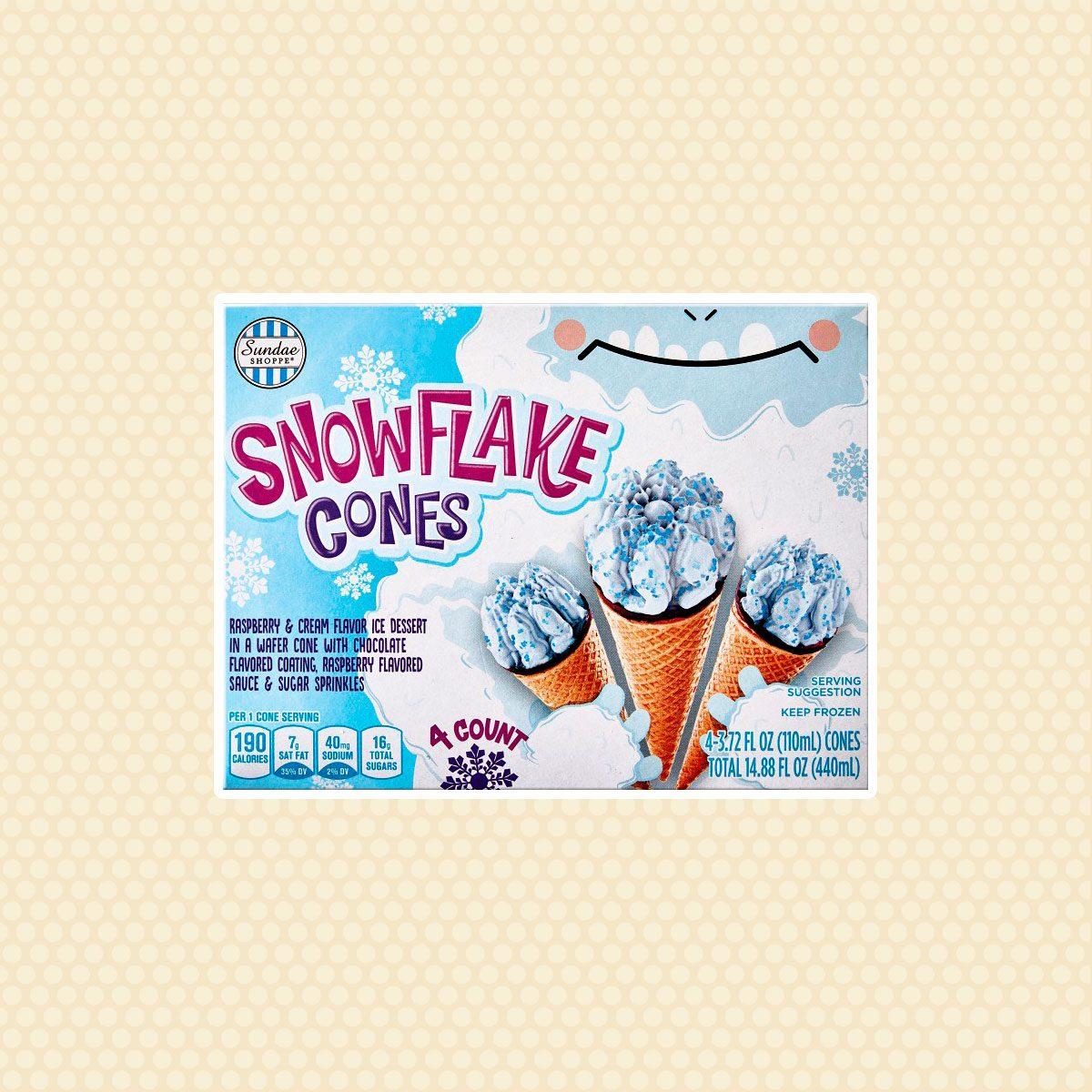 Sundae Shoppe Snowflake Cones