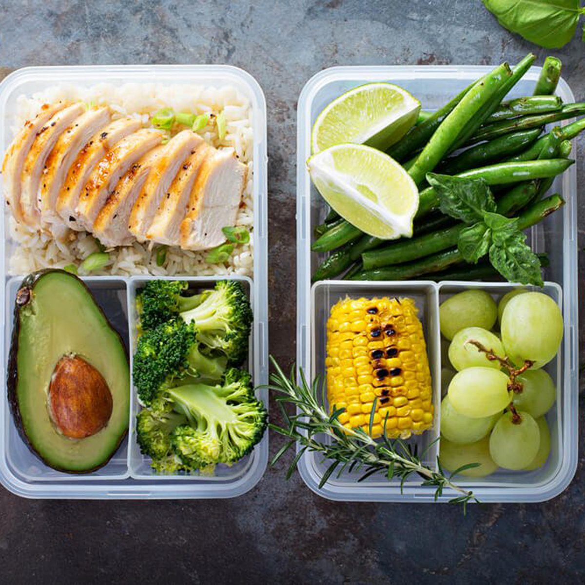 Packed veggie-filled lunches