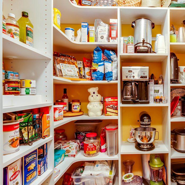 Fernandina Beach, Florida / USA - October 26 2019: An organized and well stocked large pantry; Shutterstock ID 1501385690; Job (TFH, TOH, RD, BNB, CWM, CM): TOH