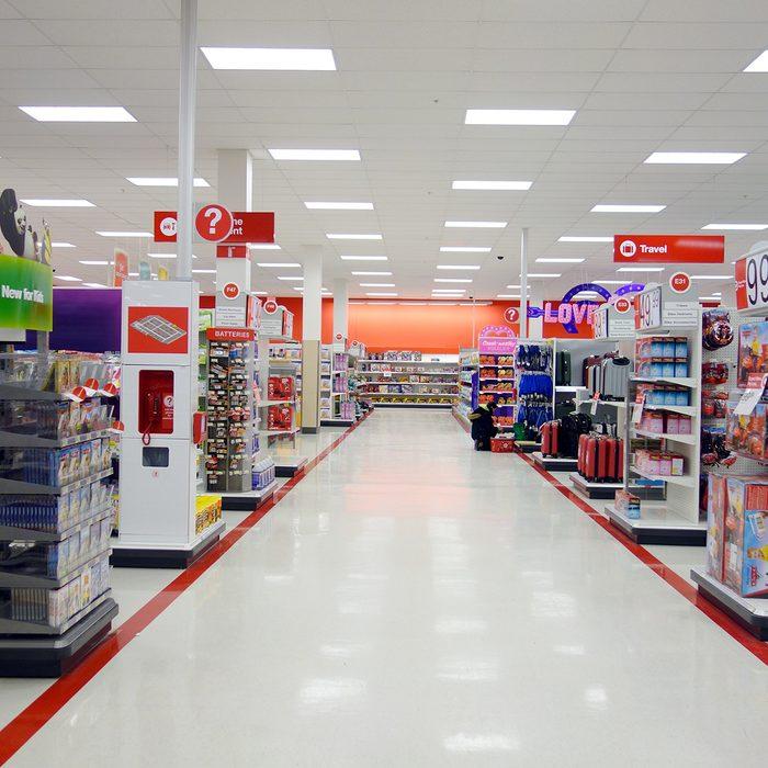Empty Target aisle